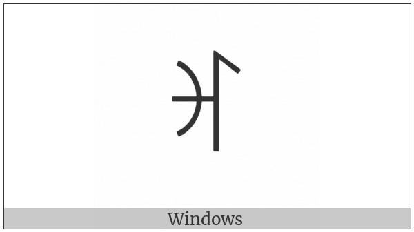 Yi Syllable Hmap on various operating systems