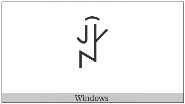 Yi Syllable Hmuox on various operating systems