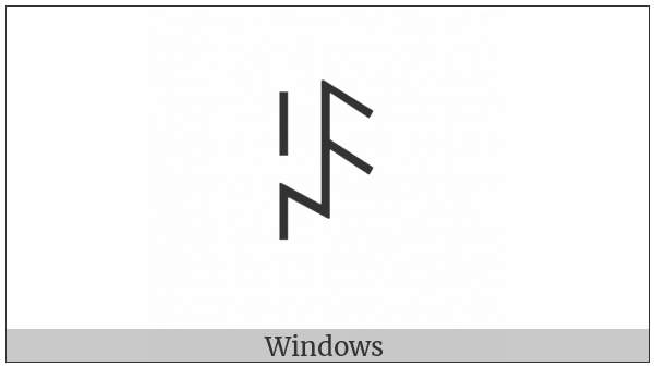 Yi Syllable Hmuop on various operating systems
