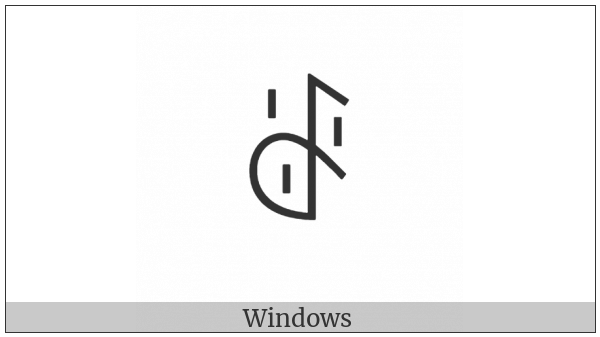 Yi Syllable Hmo on various operating systems