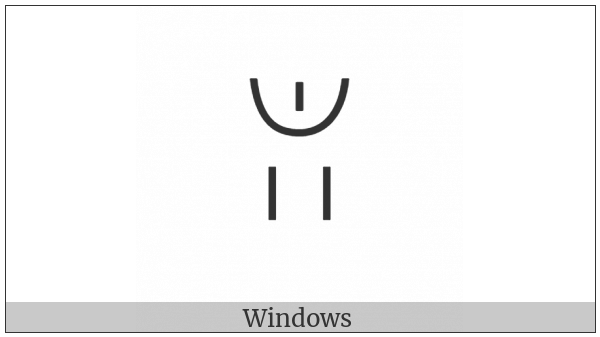 Yi Syllable Hmur on various operating systems
