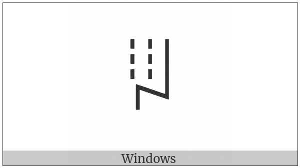 Yi Syllable Hmyp on various operating systems