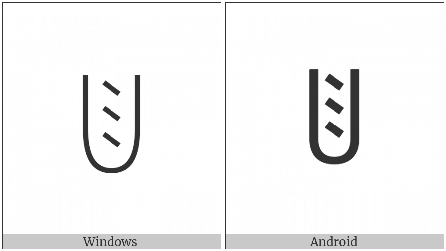 Yi Syllable Muot on various operating systems