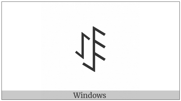 Yi Syllable Muo on various operating systems