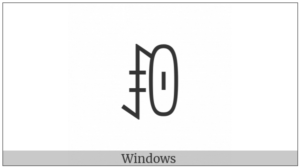 Yi Syllable Muop on various operating systems