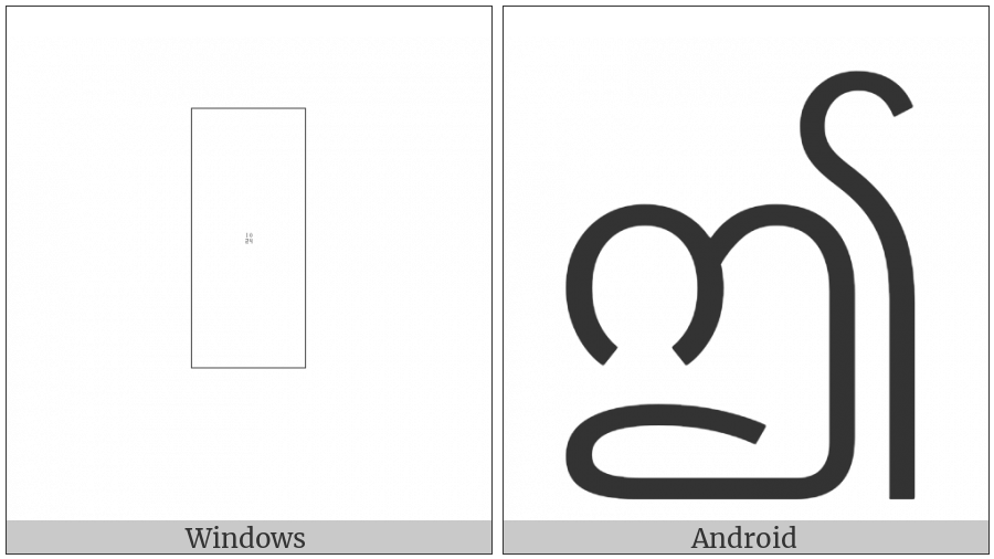 Myanmar Letter Ii on various operating systems