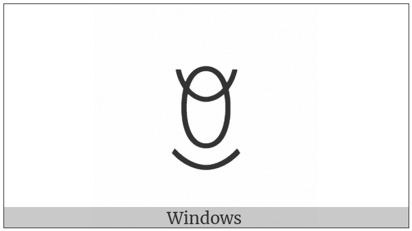 Yi Syllable Hlip on various operating systems