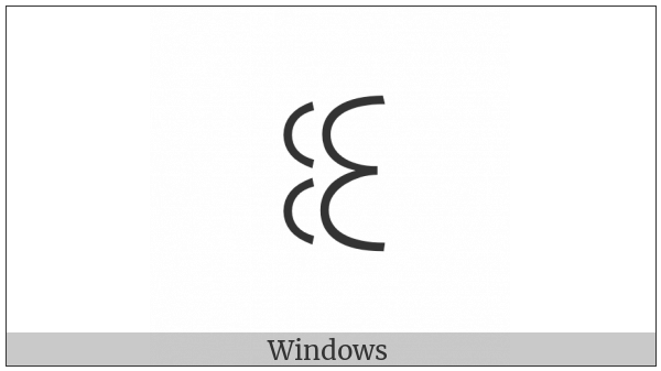 Yi Syllable Hlu on various operating systems