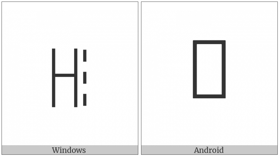 Yi Syllable Lat on various operating systems