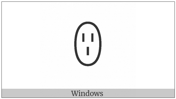 Yi Syllable Lut on various operating systems