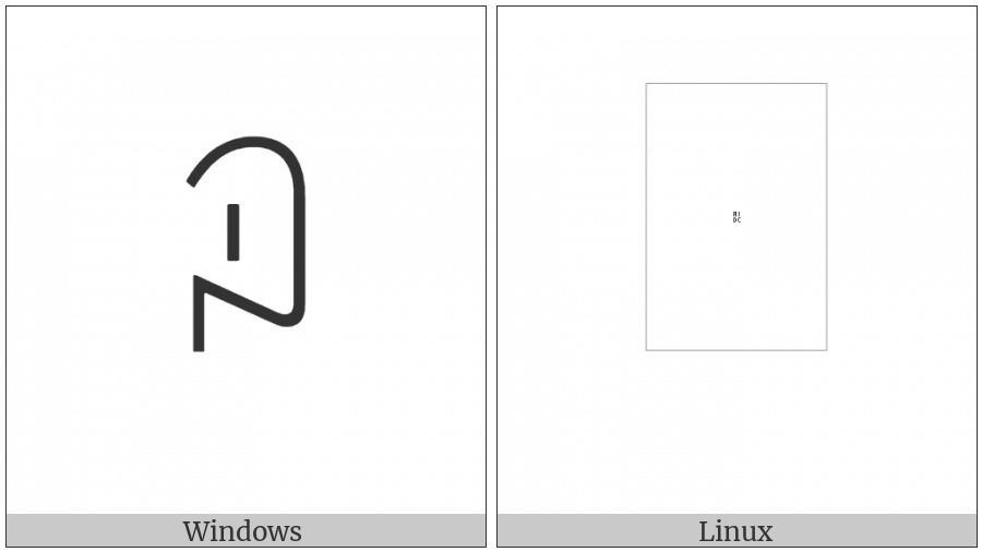 Yi Syllable Gi on various operating systems