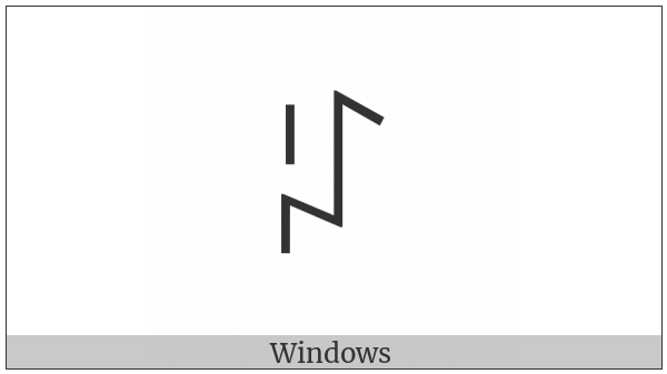Yi Syllable Gep on various operating systems