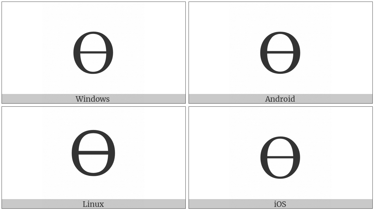 Latin Capital Letter O With Middle Tilde on various operating systems