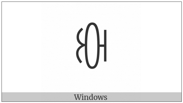 Yi Syllable Cut on various operating systems