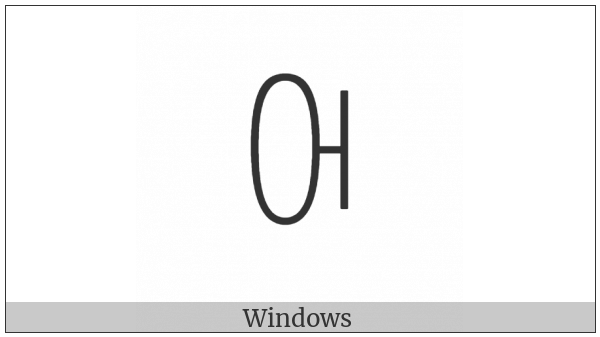 Yi Syllable Cur on various operating systems
