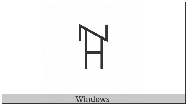Yi Syllable Zzit on various operating systems