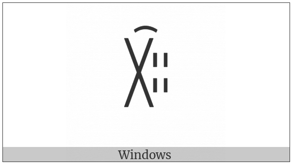 Yi Syllable Zzax on various operating systems