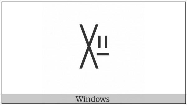 Yi Syllable Zzap on various operating systems