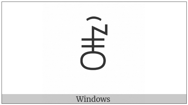 Yi Syllable Zzox on various operating systems