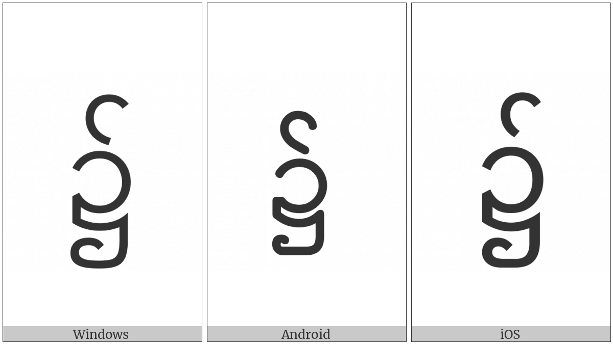 Myanmar Symbol Locative on various operating systems
