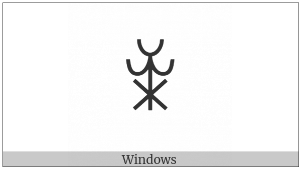 Yi Syllable Nzuo on various operating systems