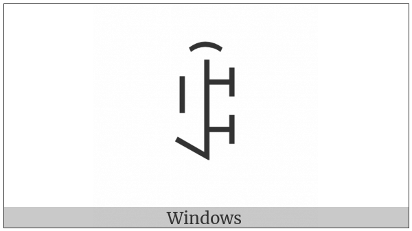Yi Syllable Sax on various operating systems
