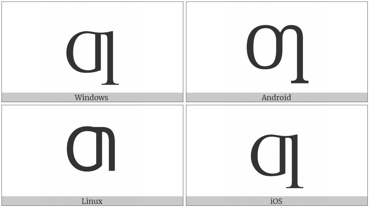 Latin Capital Letter Oi on various operating systems