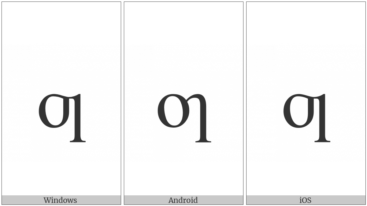 Latin Small Letter Oi on various operating systems