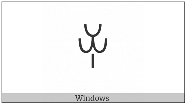 Yi Syllable Juo on various operating systems