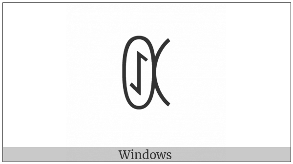 Yi Syllable Juop on various operating systems