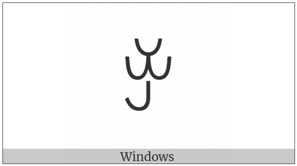 Yi Syllable Jop on various operating systems