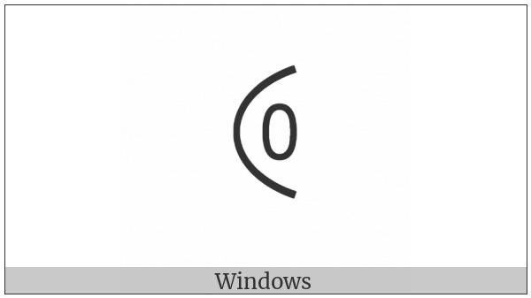Yi Syllable Ju on various operating systems