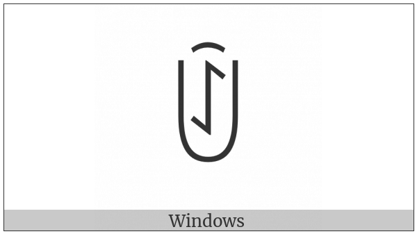 Yi Syllable Jurx on various operating systems
