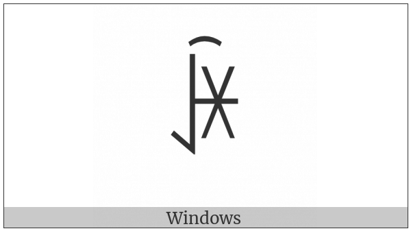 Yi Syllable Qiex on various operating systems