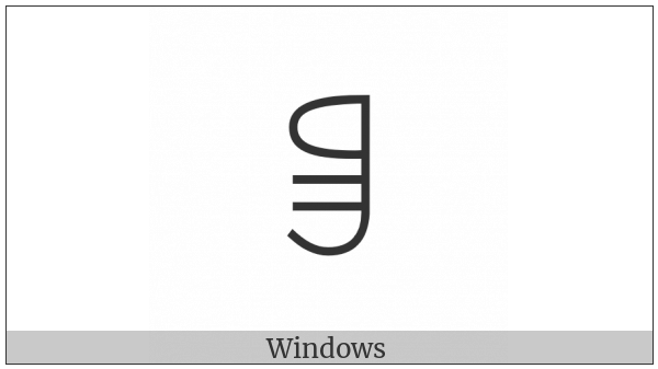 Yi Syllable Quot on various operating systems