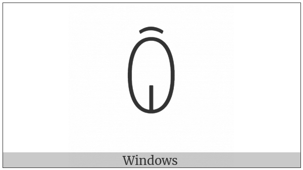 Yi Syllable Qux on various operating systems