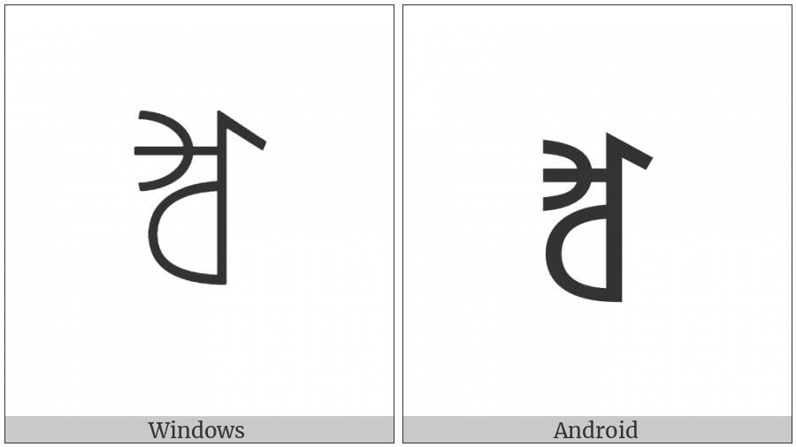 Yi Syllable Jjip on various operating systems