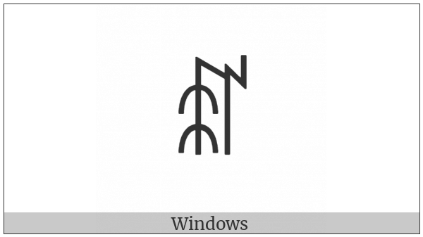 Yi Syllable Jjot on various operating systems
