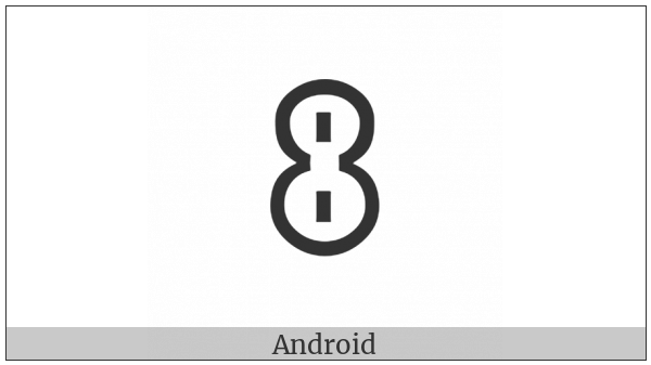 Yi Syllable Jjup on various operating systems