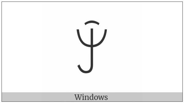 Yi Syllable Njix on various operating systems