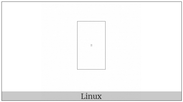 Yi Syllable Njie on various operating systems