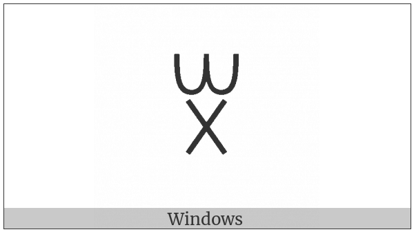 Yi Syllable Xit on various operating systems