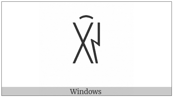 Yi Syllable Xix on various operating systems
