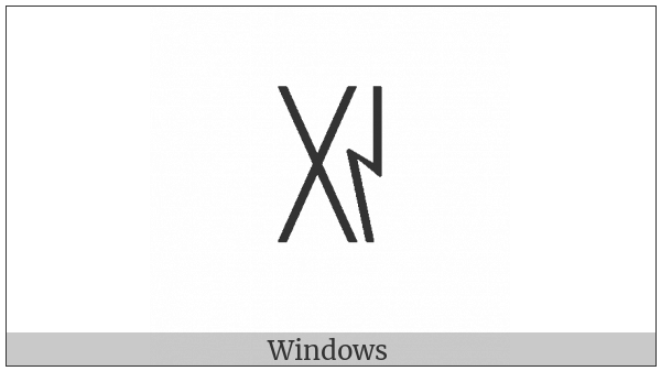 Yi Syllable Xi on various operating systems
