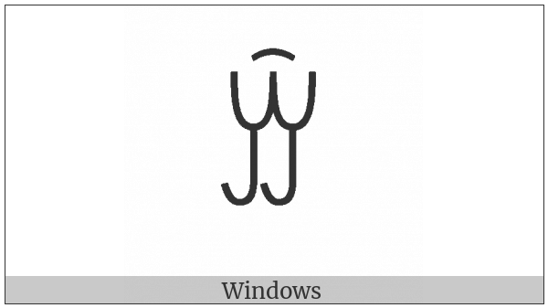 Yi Syllable Xiex on various operating systems