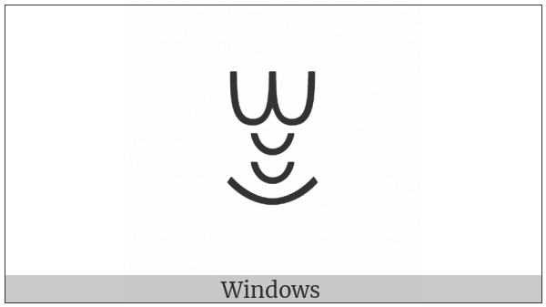 Yi Syllable Xot on various operating systems