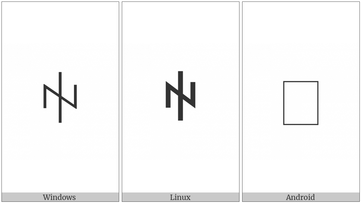 Yi Syllable Xy on various operating systems