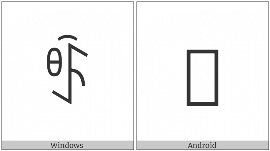 Yi Syllable Yuox on various operating systems