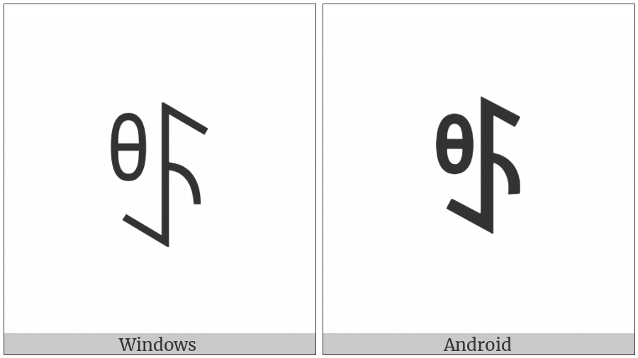 Yi Syllable Yuo on various operating systems