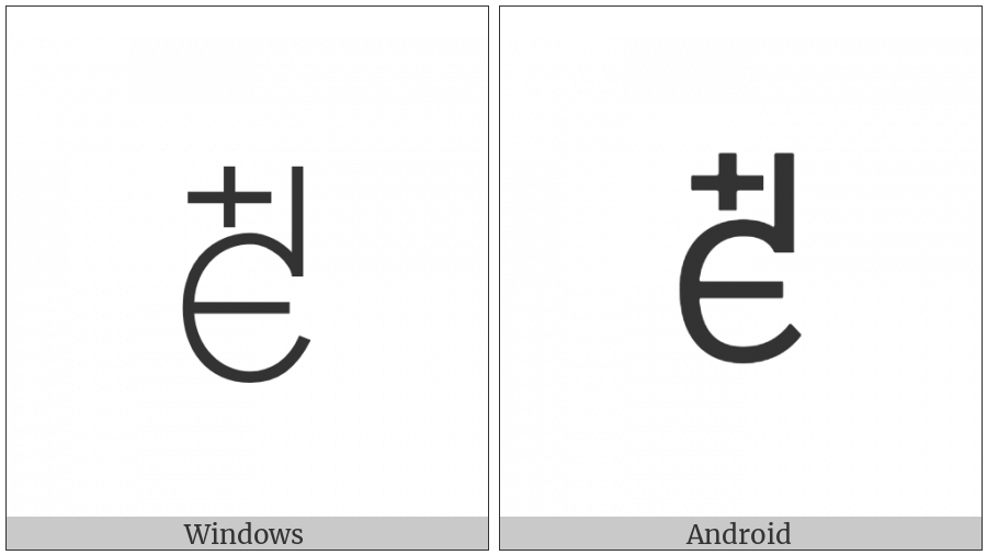 Yi Syllable Yuop on various operating systems